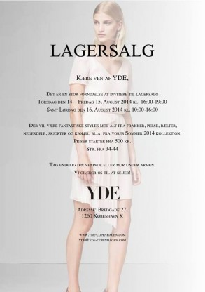YDE sale aug 14-15-16