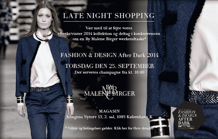 Invitation til LATE NIGHT SHOPPING d. 25 september