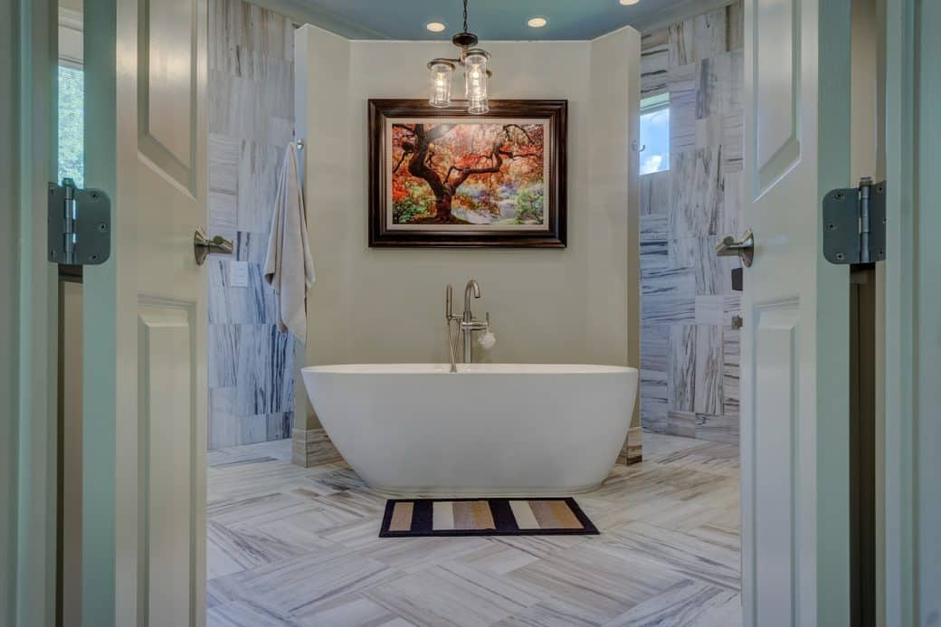 fritstående badekar